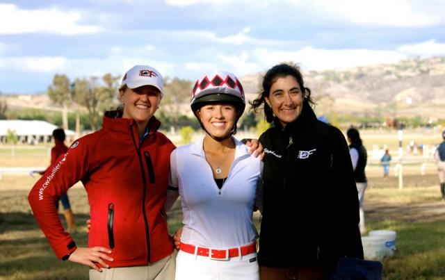 Team DF Riders Amanda Blake, Caroline Dein and Stephanie Nicora