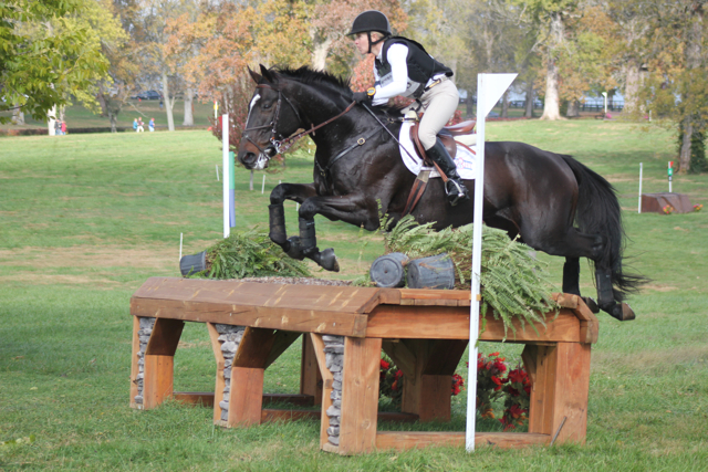 Leah Snowden and Ivy League at the 2012 Hagyard Midsouth CCI*. Photo by Samantha Clark.