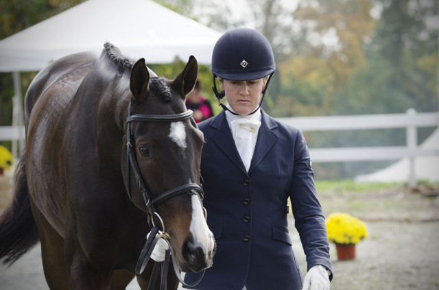 Allison Springer and Business Ben at the YEH Championships at Fair Hill. Photo by USEA/Leslie Threlkeld, used with permission.