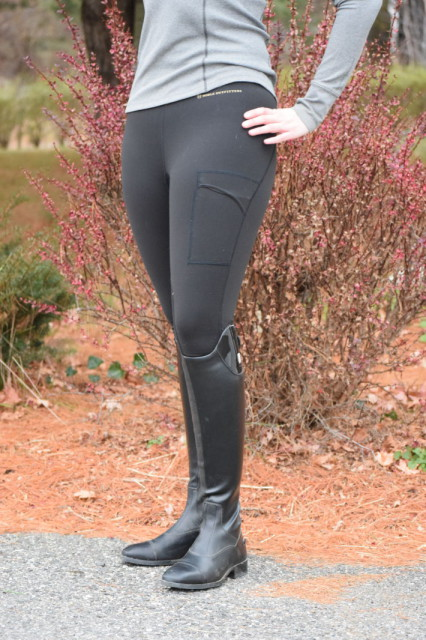 The combination of the stretchy fabric and flat seams allow the Balance Riding Tights to fit as though they are more of a second skin - Photo by Lorraine Peachey