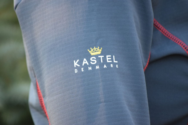 Kastel Denmark on the right sleeve of the Christine Softshell Jacket - Photo by Lorraine Peachey