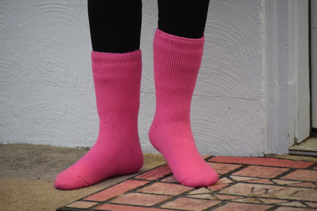 Heat Holders are over 7 times warmer than traditional cotton socks, and over 3 times warmer than other kinds of thermal socks - Photo by Lorraine Peachey