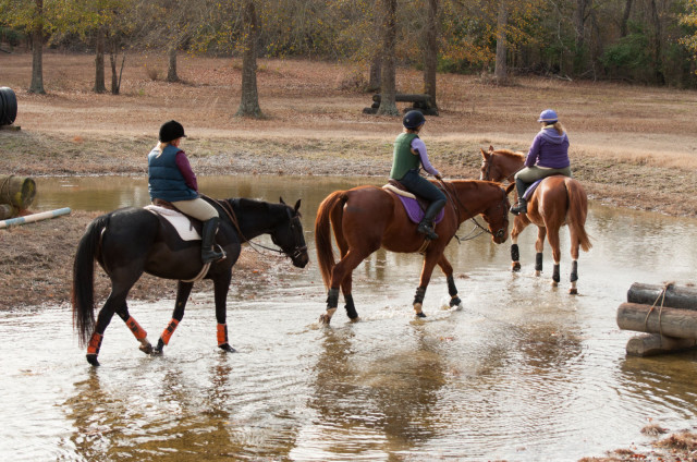 A quiet introduction to the water complex at a recent Francis Whittington clinic. Photo by Leslie Threlkeld