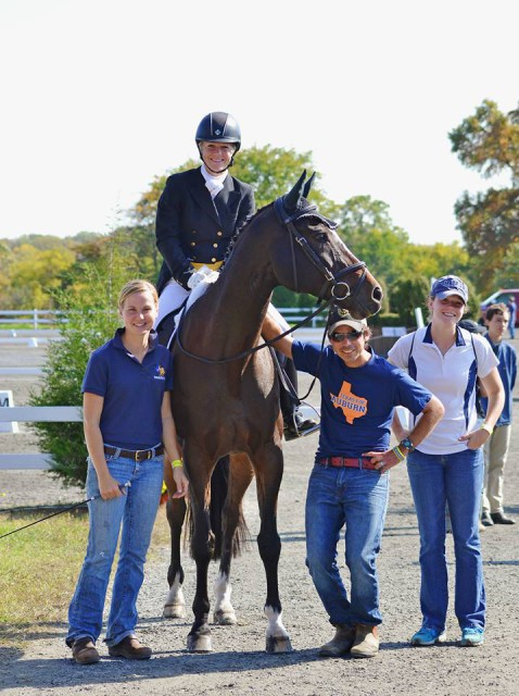 Stephanie Simpson, Jimmie Schramm, Dom Schramm, and Becca McClellan with Bellamy at Fair Hill. Photo by Jenni Autry.