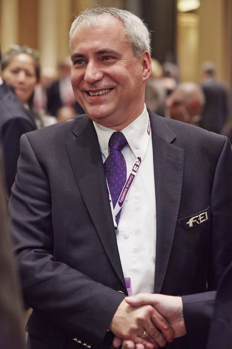 Ingmar De Vos after his landslide victory in the election for the FEI Presidency in Baku (AZE). Photo by Liz Gregg/FEI