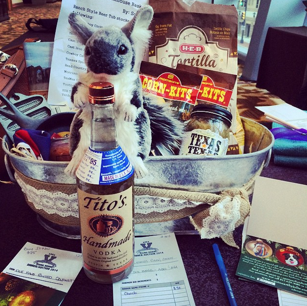 Chinch went to the silent auction while we checked out the Active Athletes meeting. Photo via EN's Instagram.