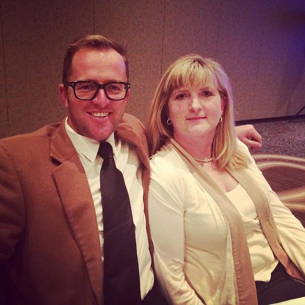 Will Faudree and Jennifer Mosing celebrate. Photo via EN's Instagram.