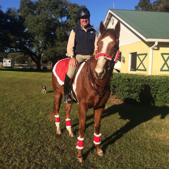 David O'Connor is certainly ready for the holiday! Photo via USEF High Performance Facebook page.
