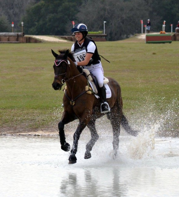 Jennie Brannigan riding OTTB Whitfield in the Ocala HT last week. Photo by Joanne Morse.