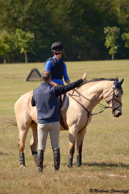 Eric and I at the Gibbes Farm for schooling. Photo by Nathan Stancliff.