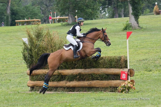 Alexandra Willoughby and Tiki Car at the 2014 NAJYRC. Photo courtesy of  ©Brant Gamma Photos