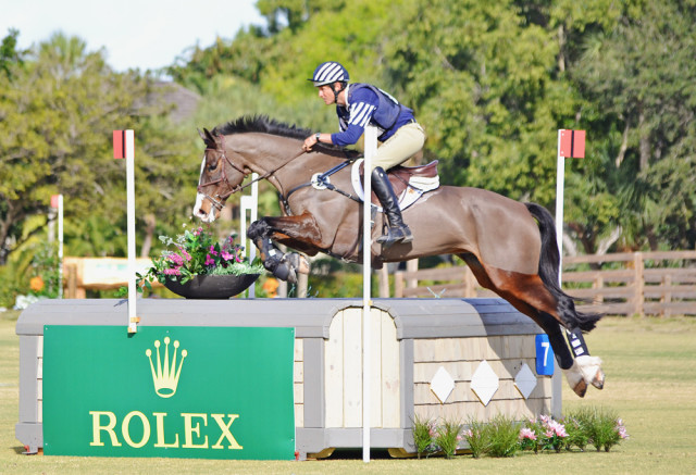 Wellington Eventing Showcase winners Boyd Martin and Trading Aces. Photo by Jenni Autry.