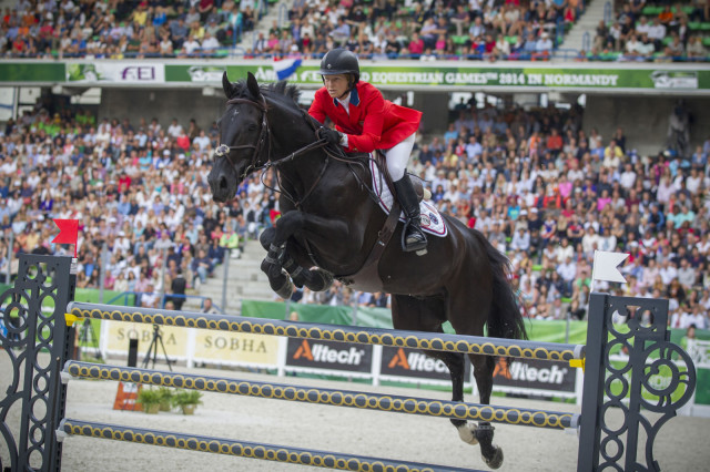 Beezie Madden and Cortes 'C' at WEG. Photo by Hippo Foto Team, Leanjo De Koster/FEI.