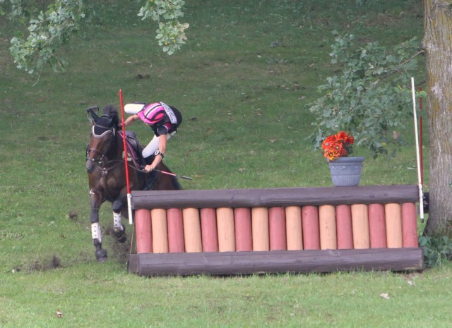 One of us completed 13 fences on course . . . and one of us cleared the 14th, too! Photo by Xpress Foto