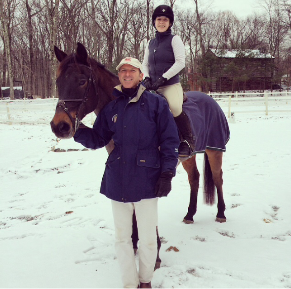 Daniel, Pilgrim, and I at the end of the second day! I learned an immense amount over the two day clinic and  can't wait to ride with him again! Photo courtesy of Erin Gordon.