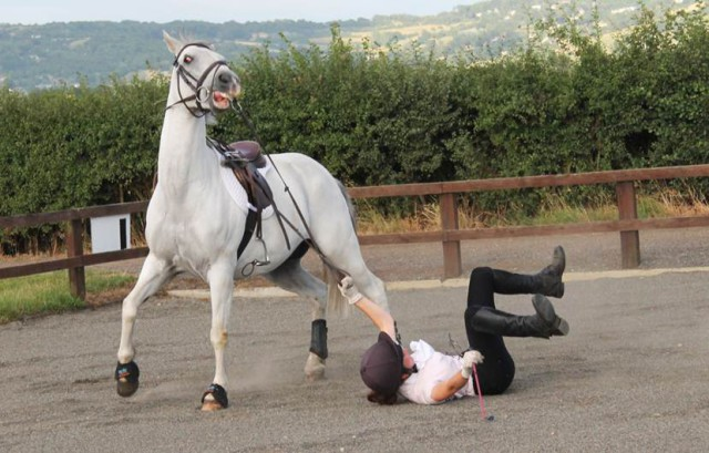 Rider down! (Creative Commons photo)