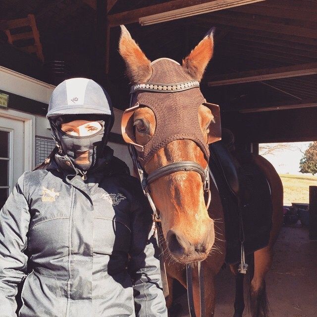 Lainey and Al are ready to take on the frigid temps! Photo courtesy of Lainey's IG.