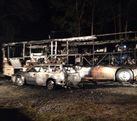 The aftermath of the fire at Blue Hill South. Photo via Blue Hill Farm.