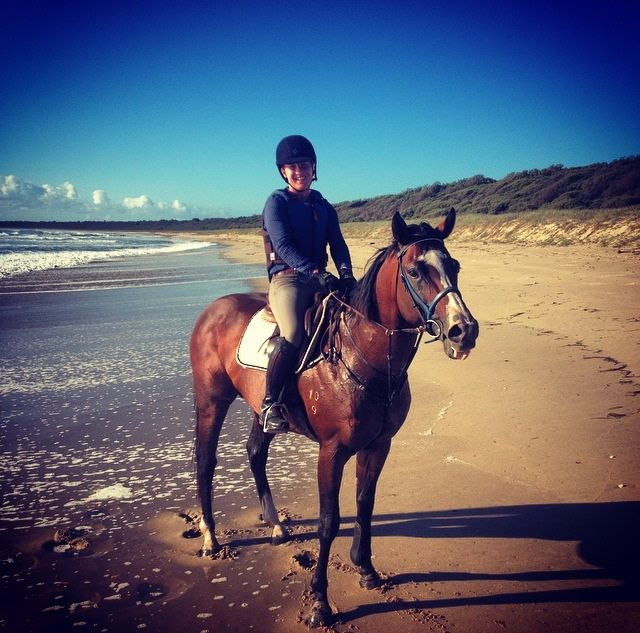 Out for a gallop on the beach.