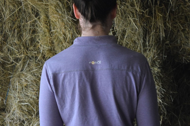 The Force Quarter Zip is designed with FastDry technology - which means that the fabric helps to wick away moisture, and help keep you more comfortable - Photo by Lorraine Peachey