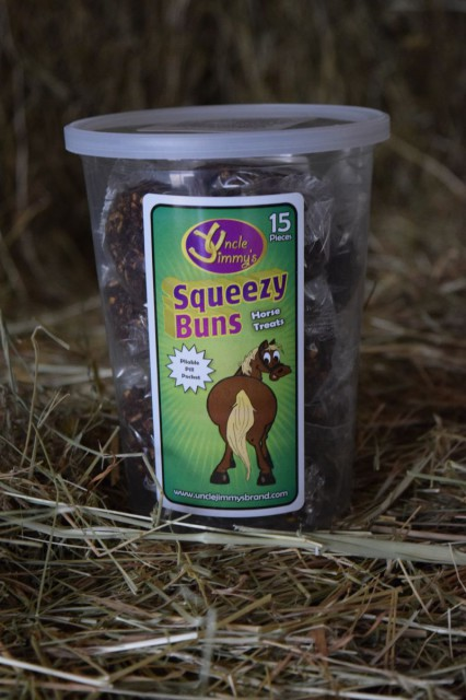 Squeezy Buns are all natural, round shaped treats that are very much enjoyed by my own horses - Photo by Lorraine Peachey