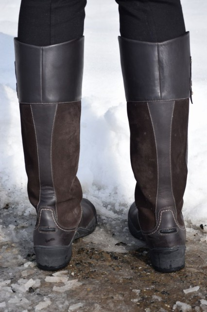 The Lakeland boot's outsole is also designed to go just as nicely while resting in stirrup irons - and, the boots also feature a convenient to use spur rest - Photo by Lorraine Peachey