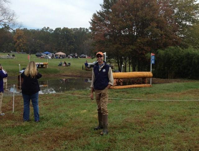 Eric Bull on course at Fair Hill. Photo via ETB Equine Construction on Facebook.