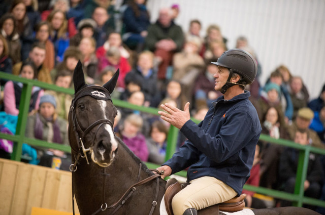 Andrew Nicholson at the 2015 International Eventing Forum. Photo courtesy of Jon Stroud Media.