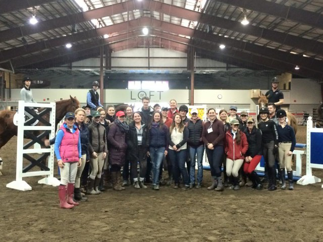 Happy participants and auditors after a successful William Fox-Pitt clinic. Photo courtesy of Scott Hayes.