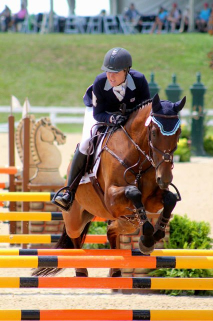 Patience O'Neal and Markus at NAJYRC. Photo by Samantha Clark/PRO.