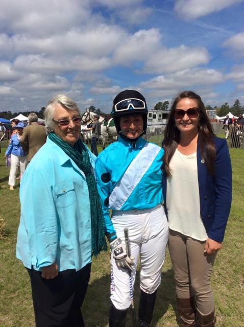 Nina Gardner, Jennie Brannigan and Hannah Sue Burnett at the race. Photo courtesy of Jennie Brannigan.