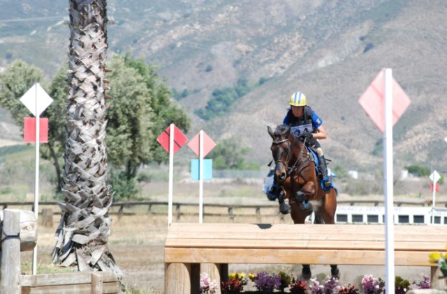 Jolie Wentworth and GoodKnight making easy work of the bounce into water. Photo by Stephanie Nicora.