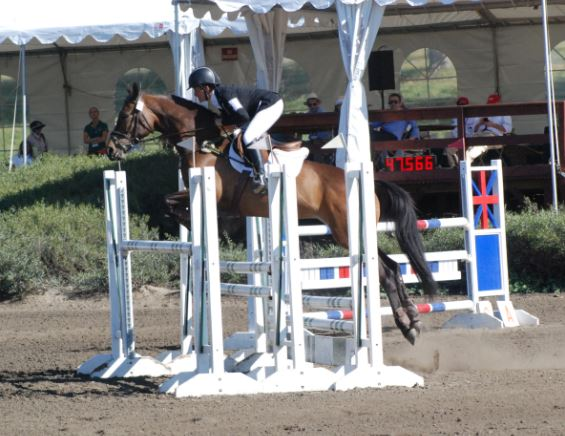 Barb Crabo and Over Easy, making the triple bar look easy! Photo by Stephanie Nicora.