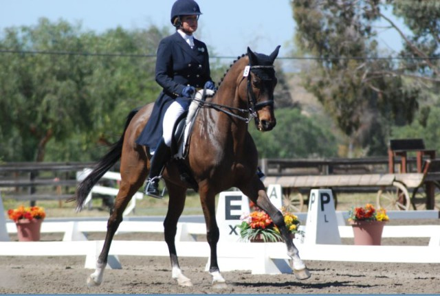Bunnie Sexton and her OTTB Rise Against. Photo by Stephanie Nicora.