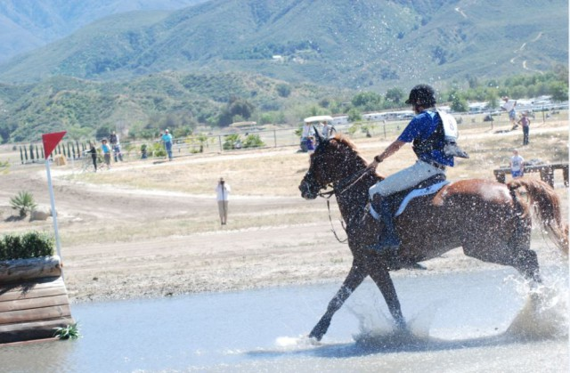 James Alliston and Tivoli having fun in the final water complex on course. Photo by Stephanie Nicora.