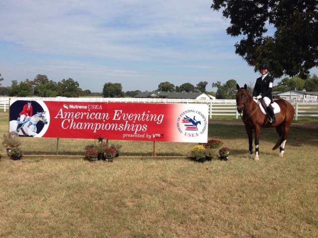 Maggie and Toby take on Texas at the 2014 AECs. Photo courtesy of Maggie Gilbert.