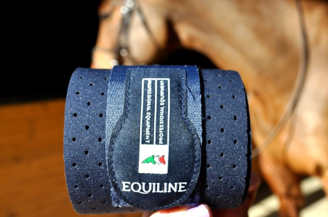Equiline Grip Bandages are designed to provide support while maintaining breathability. Photo by Kate Samuels.