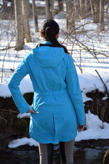 I also found that I like the unique and stylish appearance of the high-low cut of the hemline - because the bottom hem of Split Tail jacket dips down a little lower in the back, which helps to provide a little extra coverage - Photo by Lorraine Peachey