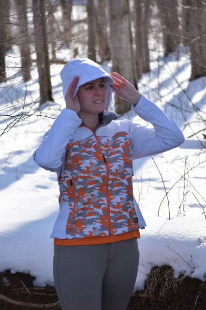There is also a functional 3-piece hood that you can pull up and adjust with drawstrings for a just-right fit - or, you can detach it by unzipping it completely if you would prefer to wear the jacket without the hood - Photo by Lorraine Peachey
