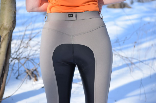 What makes Flex-Leather really appeal to someone like me is that it offers the comfort and performance of other pairs of FITS breeches - but they are super easy to care for, because they are fully machine washable and dryable - Photo by Lorraine Peachey