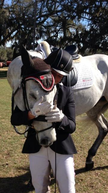 Jennie and Beef at Florida Horse Park. Photo courtesy of Jennie Brannigan.