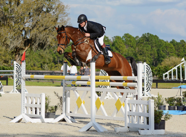 Kurt Martin and Anna Bella at the 2015 Eventing Prix Invitational. Photo by Jenni Autry.