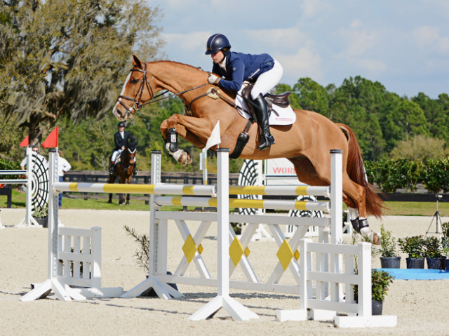 Lillian Heard and Share Option at the 2015 Eventing Prix Invitational. Photo by Jenni Autry.