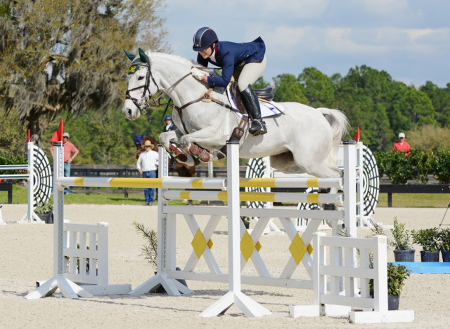 Lisa Barry and F.I.S. Prince Charming at the 2015 Eventing Prix Invitational. Photo by Jenni Autry.