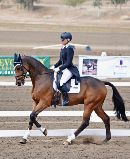 Mackenna Shea and Landioso at Galway Downs. Photo by Jenni Autry.