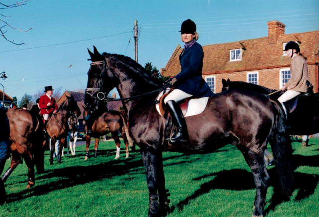 Carolyn Bates and Jumbo. Photo courtesy of Grafham Stud.
