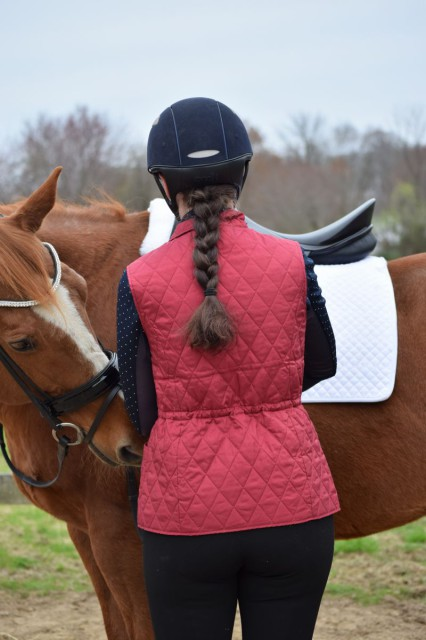 Perhaps one of my (very) favorite features of the Quilted Vest is the hidden drawstring waistline - which can be tightened to accentuate the waist for an even more flattering fit - Photo by Lorraine Peachey
