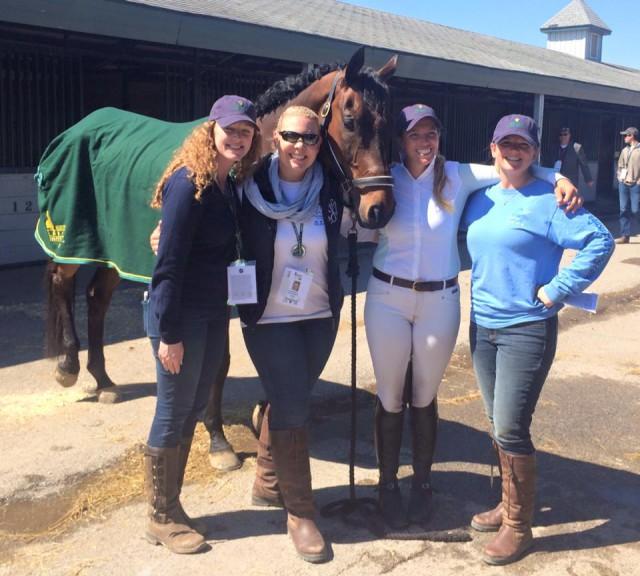Ellen Doughty-Hume and her team. Photo via Meg Johnson..