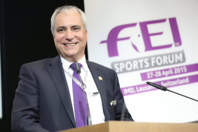 FEI President Ingmar De Vos at the 2015 FEI Sports Forum. FEI/Germain Arias-Schreiber