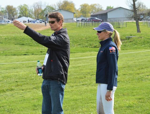 William Fox-Pitt gives Liz Halliday-Sharp some pointers. Photo by Sally Spickard.